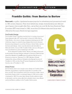 Franklin Gothic: from Benton to Berlow