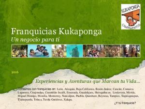 Franquicias Kukaponga Un negocio para ti
