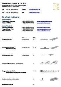 Franz Holz GmbH & Co. KG