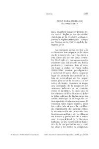 FRANZ KAFKA: ITINERARIOS