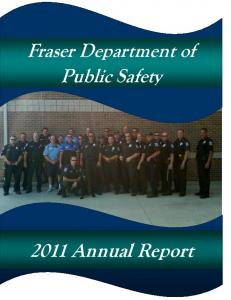Fraser Department of Public Safety Annual Report