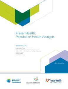 Fraser Health: Population Health Analysis