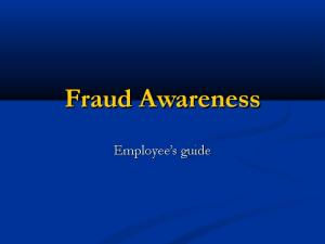 Fraud Awareness. Employee s guide