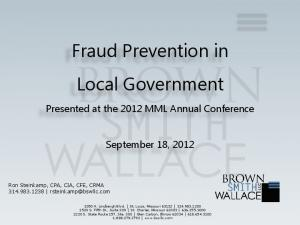 Fraud Prevention in Local Government