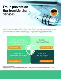 Fraud prevention tips from Merchant Services