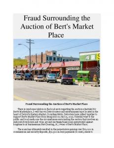 Fraud Surrounding the Auction of Bert's Market Place
