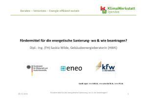 Fördermittel für die energetische Sanierung- wo & wie beantragen?