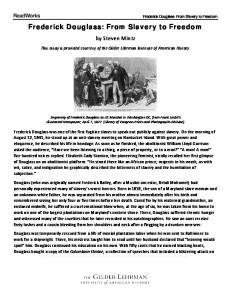 Frederick Douglass: From Slavery to Freedom