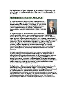 FREDERICK T. ZUGIBE, M.D., Ph.D