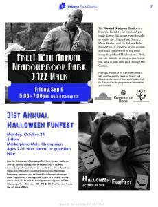 Free! 12th Annual Meadowbrook Park JAZZ Walk