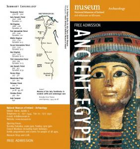 FREE ADMISSION. Archaeology FREE ADMISSION. Summary Chronology
