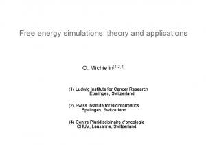 Free energy simulations: theory and applications