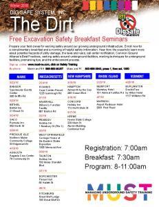 Free Excavation Safety Breakfast Seminars