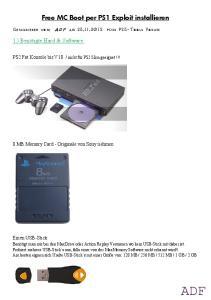 Free MC Boot per PS1 Exploit installieren