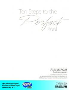 FREE REPORT For Homeowners