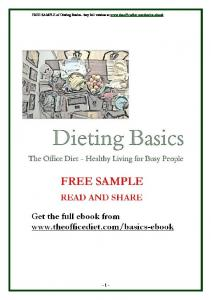 FREE SAMPLE of Dieting Basics buy full version at