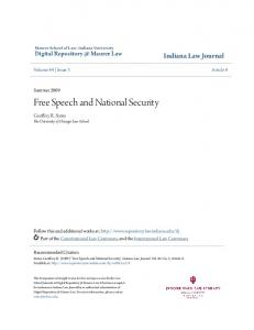Free Speech and National Security