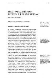 FREE TRADE AGREEMENT BETWEEN THE EU AND VIETNAM