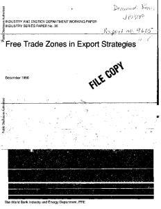Free. Trade Zones in Export Strategies