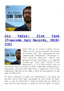 (Freecode Jazz Records, 2016) [CD]