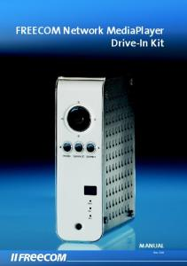 FREECOM Network MediaPlayer Drive-In Kit MANUAL