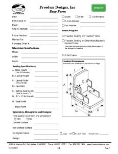 Freedom Designs, Inc Easy Form