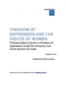 FREEDOM OF EXPRESSION AND THE RIGHTS OF WOMEN