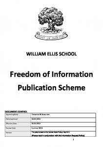 Freedom of Information Publication Scheme