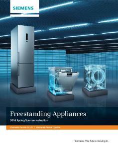 Freestanding Appliances