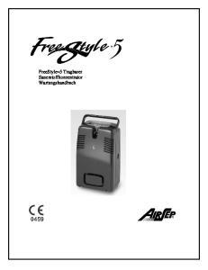 FreeStyle 5 Tragbarer Sauerstoffkonzentrator Wartungshandbuch