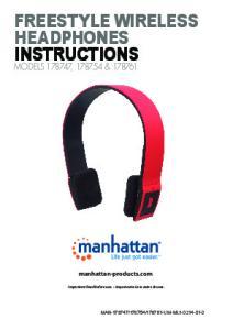 FREESTYLE WIRELESS HEADPHONES INSTRUCTIONS