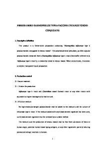FREEZE-DRIED HAEMOPHILUS TYPE b VACCINE (TETANUS TOXOID CONJUGATE)