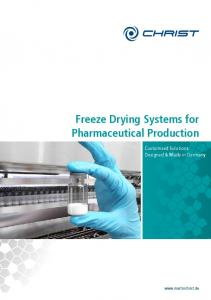 Freeze Drying Systems for Pharmaceutical Production