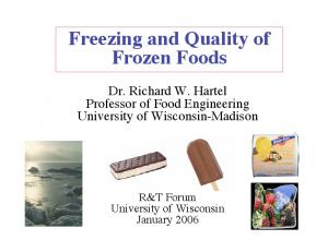 Freezing and Quality of Frozen Foods
