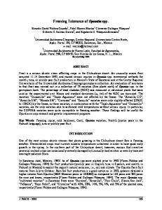 Freezing Tolerance of Opuntia spp