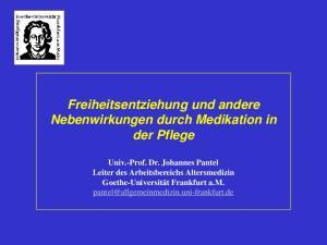 Freiheitsentziehung und andere Nebenwirkungen durch Medikation in der Pflege