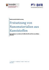 Freisetzung von Nanomaterialien aus Kunststoffen