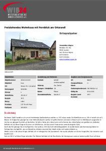Freistehendes Wohnhaus mit Fernblick am Ortsrand!