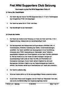 Frei.Wild Supporters Club Satzung