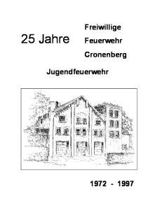 Freiwillige 25 Jahre Feuerwehr. Cronenberg. Jugendfeuerwehr