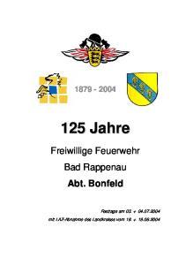 Freiwillige Feuerwehr Bad Rappenau Abt. Bonfeld