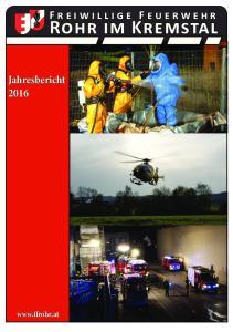 Freiwillige Feuerwehr. Rohr im Kremstal. Jahresbericht