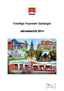 Freiwillige Feuerwehr Salzbergen. Jahresbericht 2014