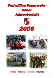 Freiwillige Feuerwehr Sandl Jahresbericht