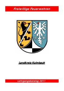 Freiwillige Feuerwehren. Landkreis Kulmbach