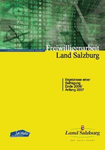 Freiwilligenarbeit im Land Salzburg