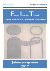 FreizeitInklusionTeilhabe. Offene Hilfen im Schwarzwald-Baar-Kreis
