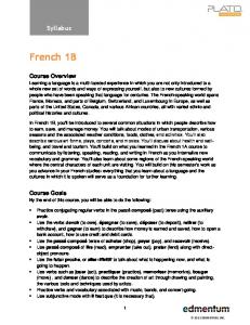 French 1B. Syllabus. Course Overview. Course Goals