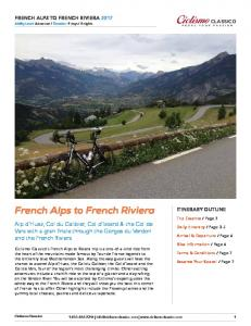 French Alps to French Riviera