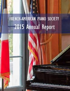 FRENCH-AMERICAN PIANO SOCIETY Annual Report